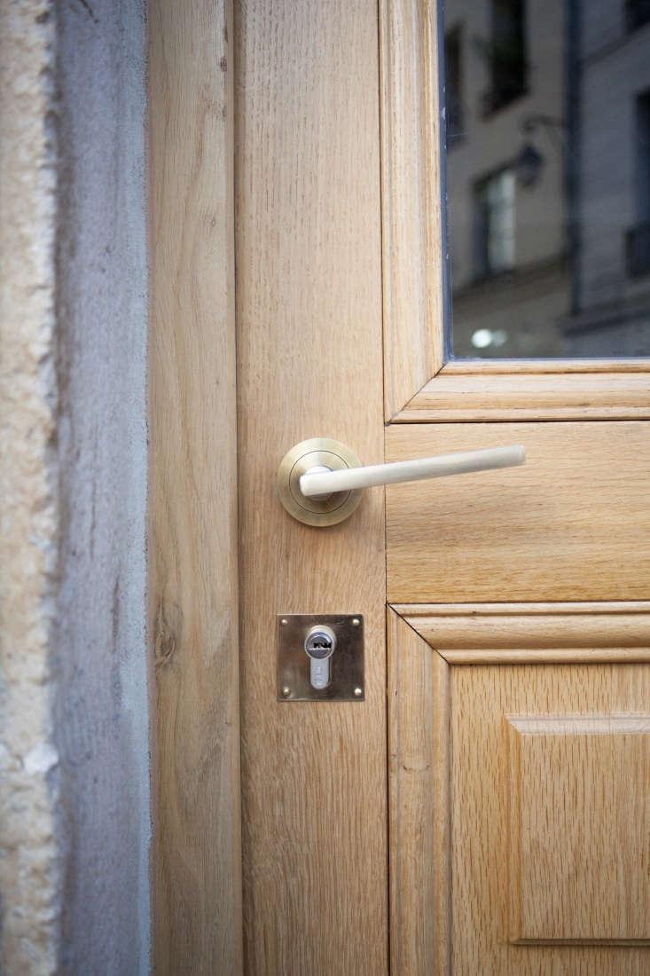 A custom brass door handle set.