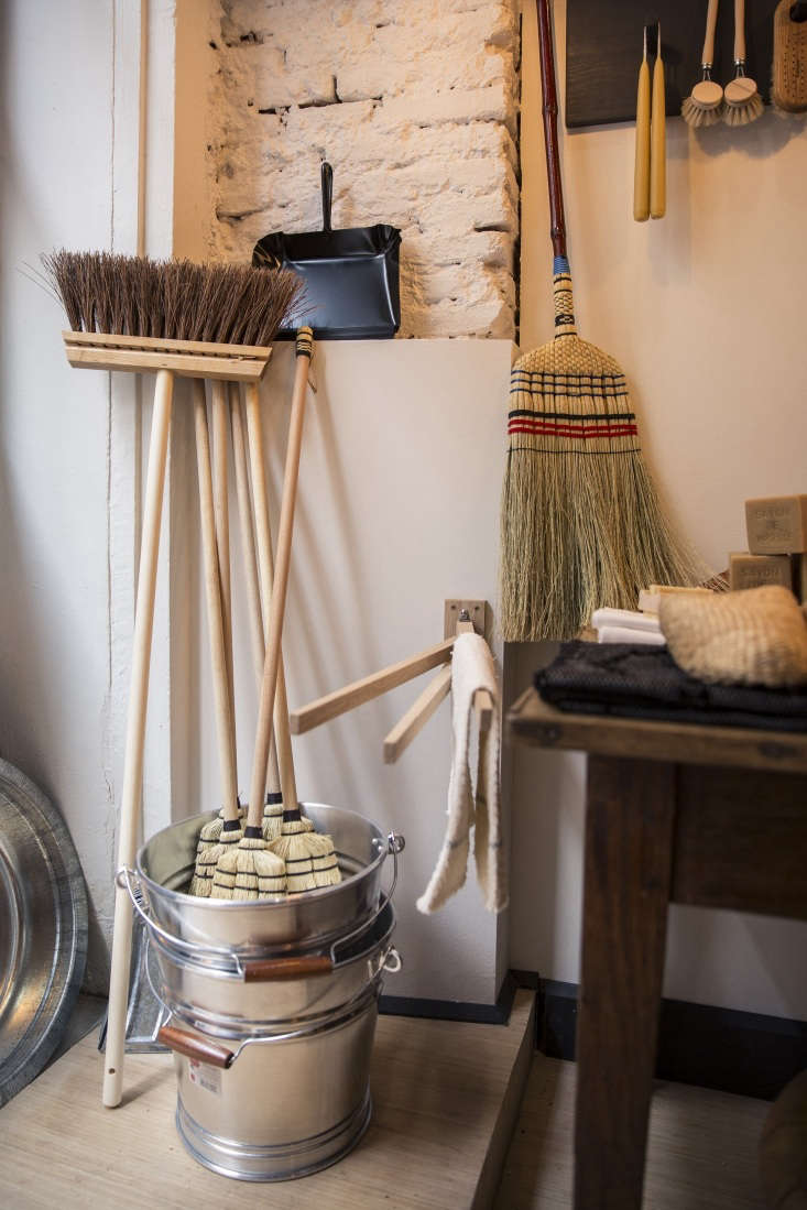 the shop&#8\2\17;s brooms (€\17.50) and zinc buckets (€49) are made by  20