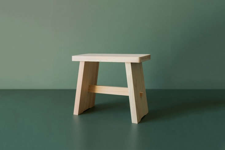 a smallhinoki bathroom stool is available from everyday needs in new zealand; 10