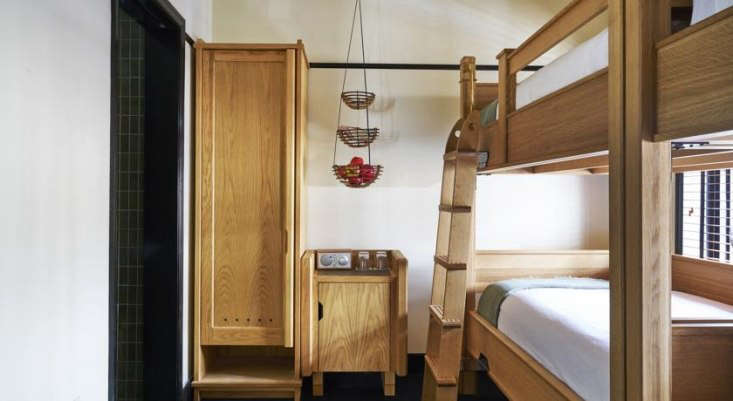 The sturdy bunk beds in the group-friendly bunk and &#8