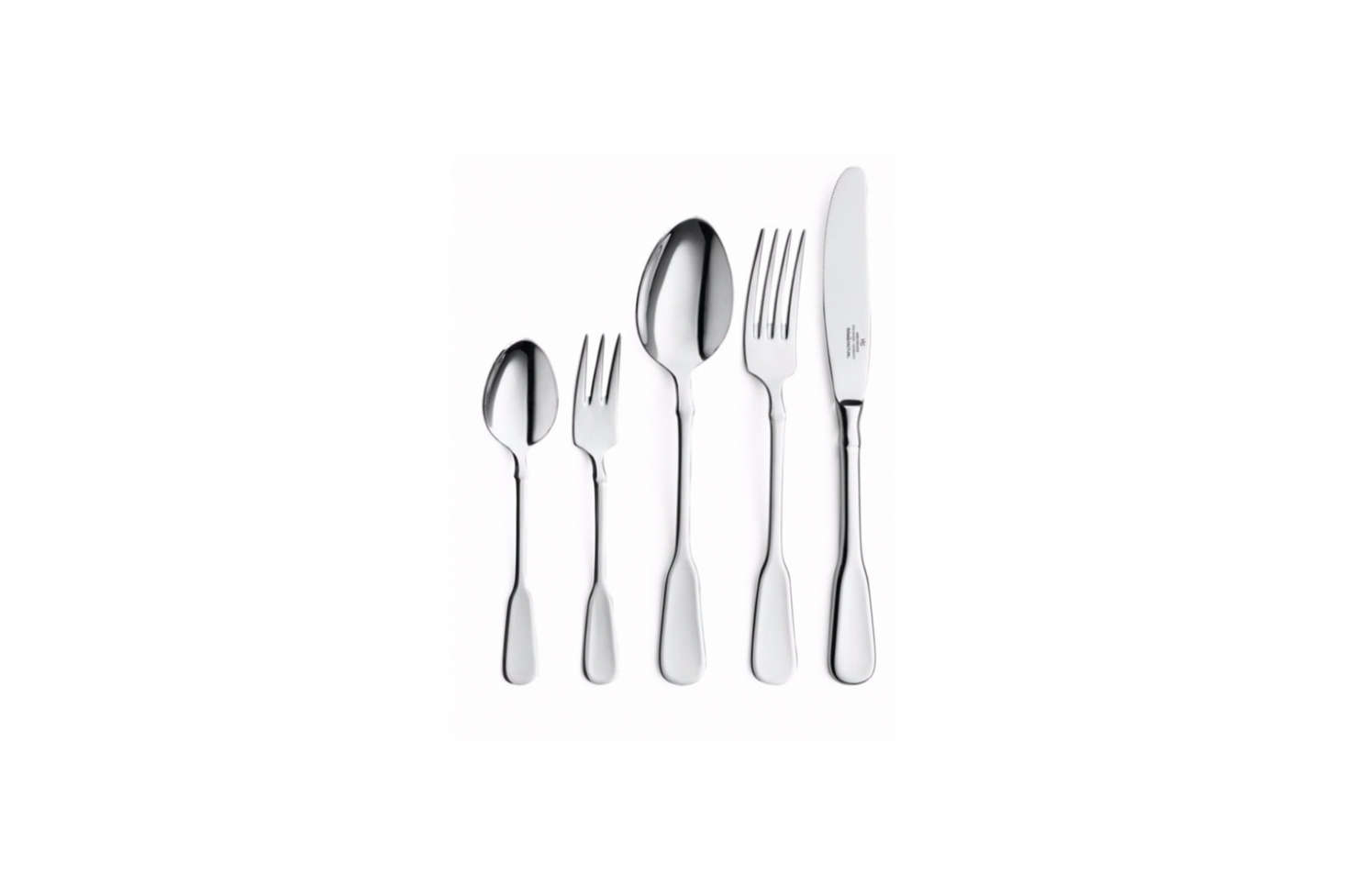 The Gehring Spaten Table Cutlery from Gehring in Solingen is another Spaten style set of flatware; €39 at Manufactum.