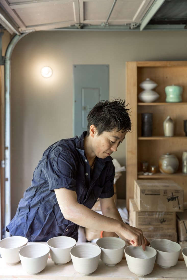 nakazato at work in her maine studio, a converted garage at the end of a dirt r 17