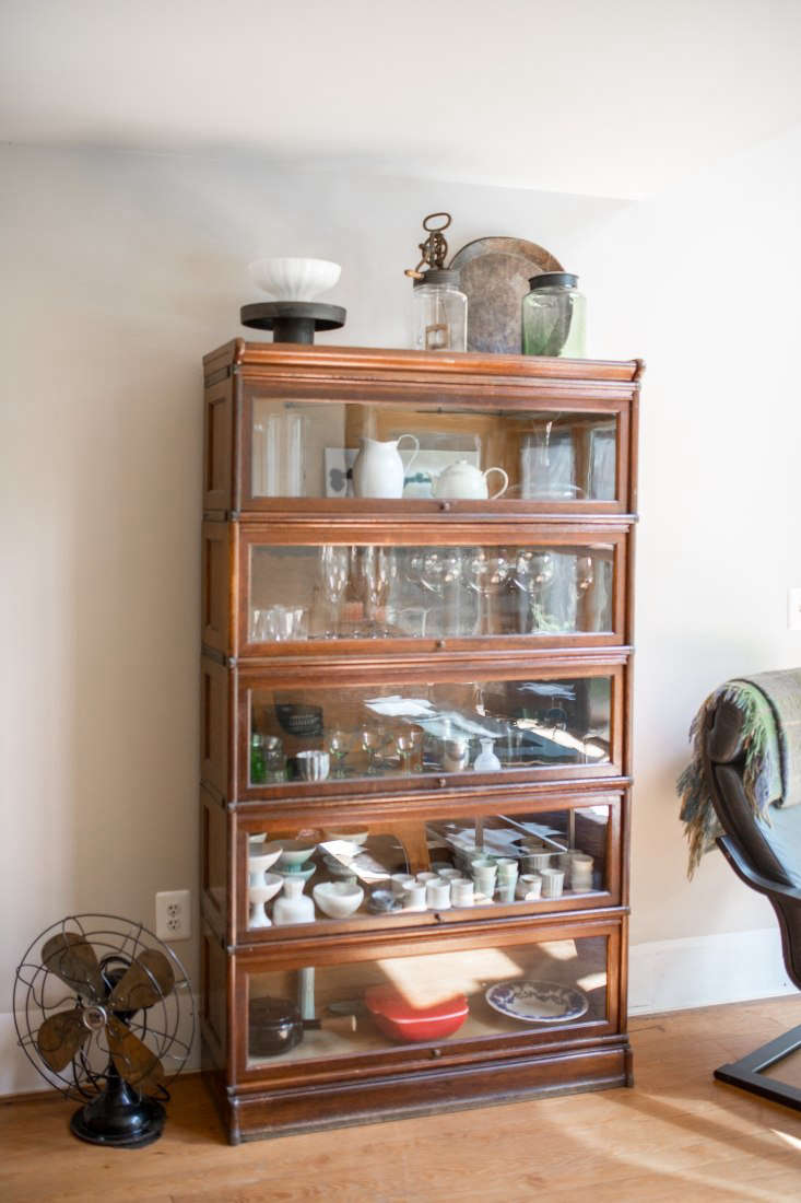 a glass fronted barrister bookcase—found at an antiques shop near belfast, ma 10