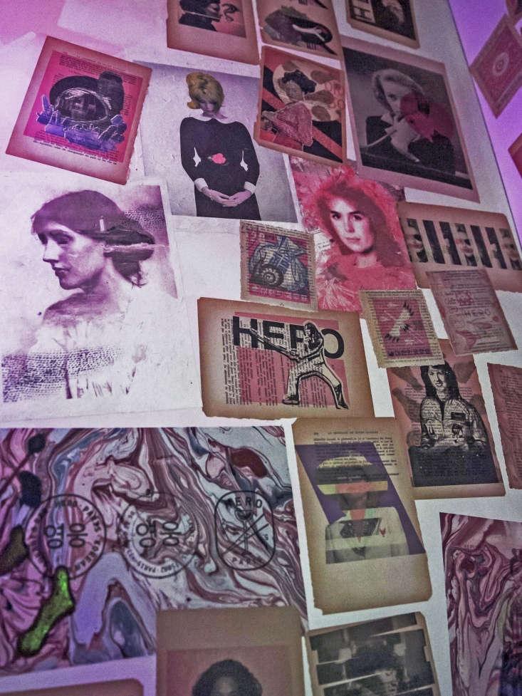 art collage at hero restaurant in paris 19