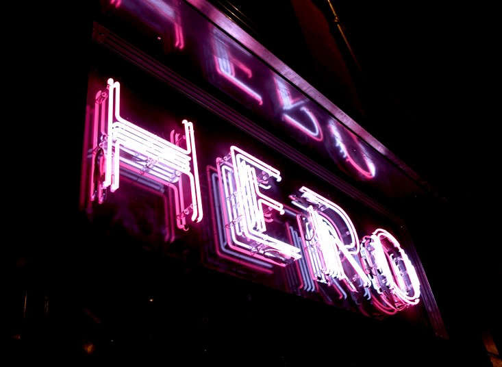 embrace kitsch: a neon sign hints that the interiors won&#8\2\17;t take the 23