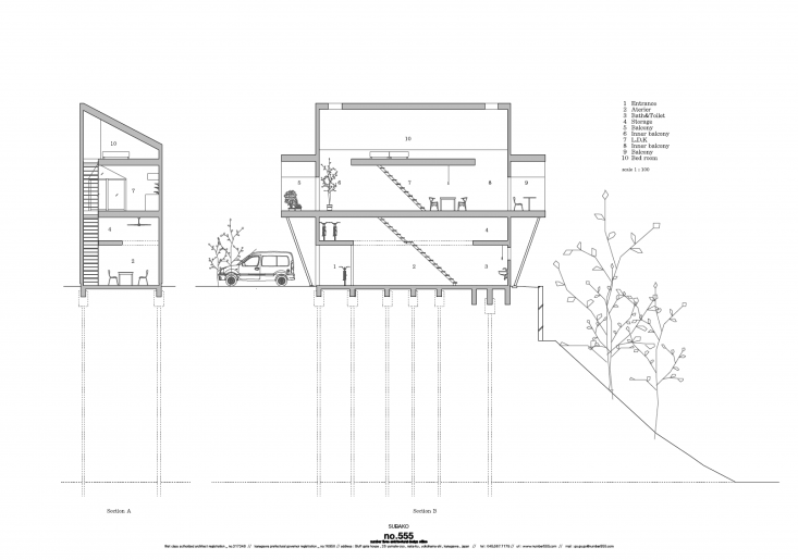 no. 555&#8\2\17;s cross section of the design details the loft spaces over  20