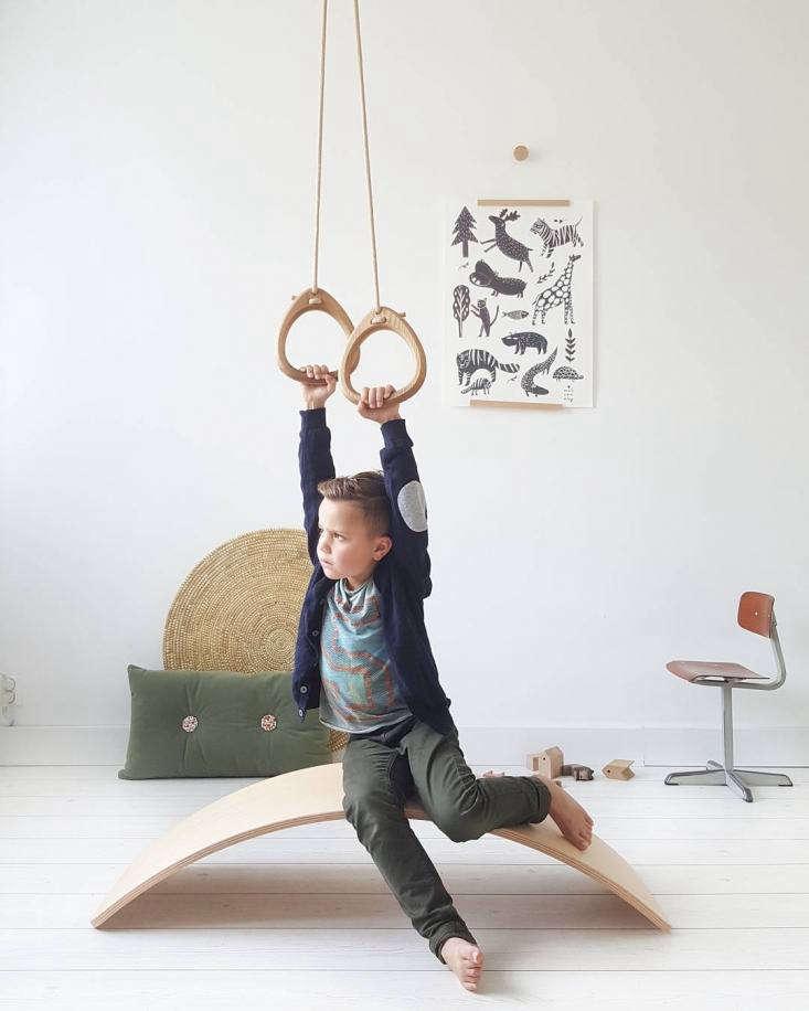 lillagunga gymnastic rings in oak; €\139, hang in fender&#8\2\17;s room.  22