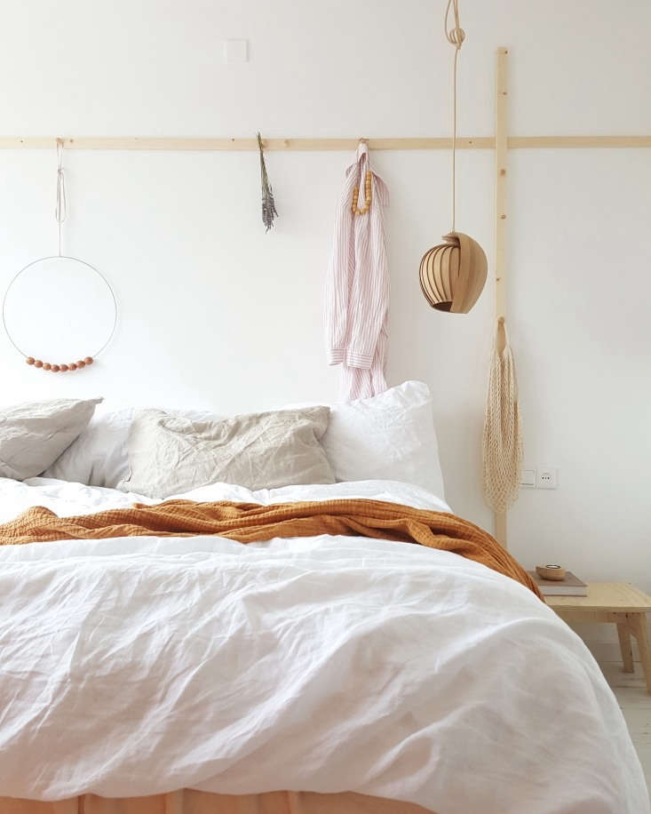 the master bedroom has a hanging peg rail, both horizontal and vertical, that i 24