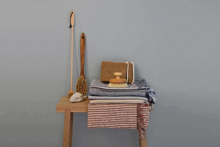 the german madesolid oak stool is best for bathside products, as shown; \$\13 12