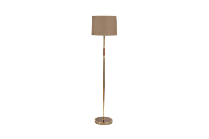 A similar lamp to the custom floor light is the Brass and Beechwood Lamp from the Lamp Factory in London.
