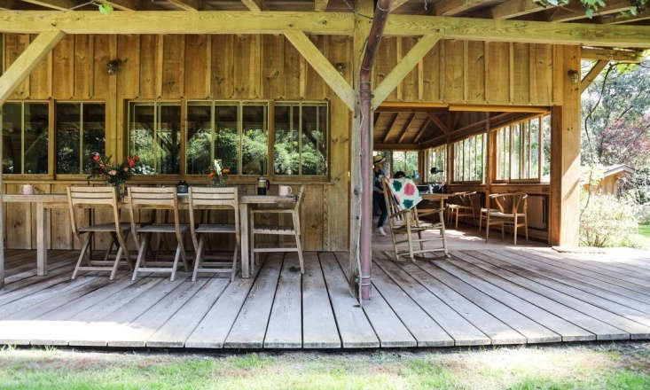 A Fashion Designers Cabin in the Cape Cod of France Bartherotte cabins are all about terrace living.