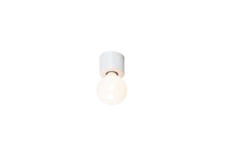 10 Easy Pieces Modern White Ceiling Socket Fixtures from 5 to 300 The Pot Shaped Wall Ceiling Lamp is €47 from Manufactum in Germany.