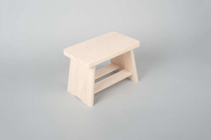 a traditionalhinoki bath stool made in tochigi, japan, is £65 at native & 16