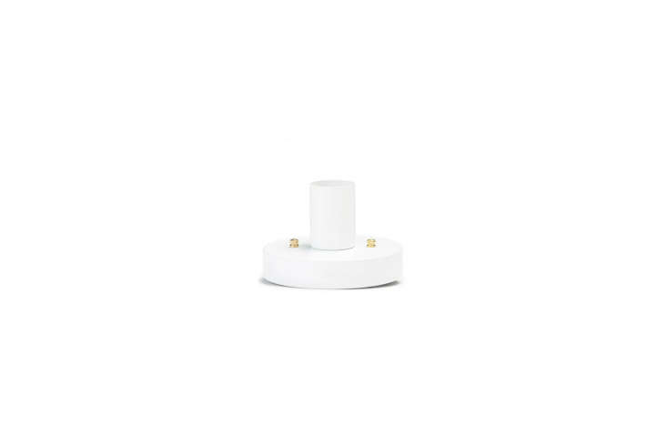 10 Easy Pieces Modern White Ceiling Socket Fixtures from 5 to 300 From Old Faithful, theOFS Flush Mount light fixture is a simple ceiling light, designed and made in Vancouver; \$74.95, bulb not included. See more inShaker Inspired Lighting from Old Faithful Shop in Vancouver.