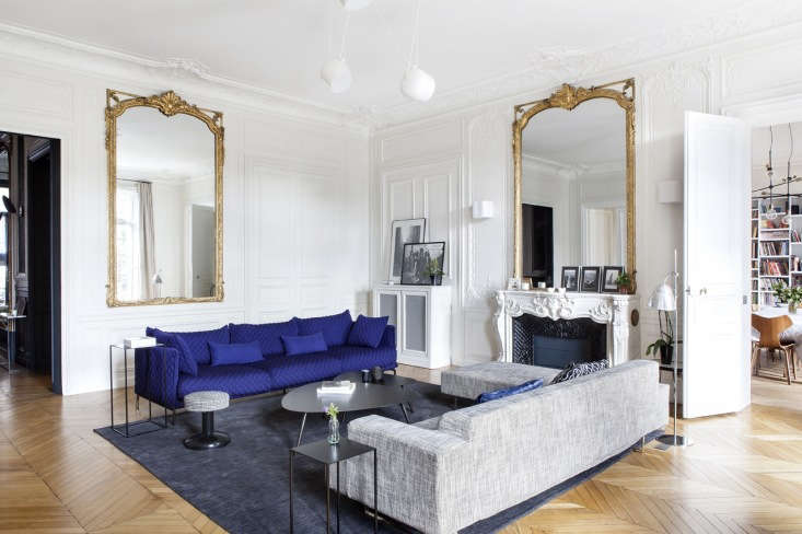 Bolt from the Blue Sightings of Yves Kleins Iconic Hue Yves Klein Blue in a small dose in an otherwise neutral apartment. Read more atIn Paris, a Grand Apartment Gets an Update for a Modern Family.