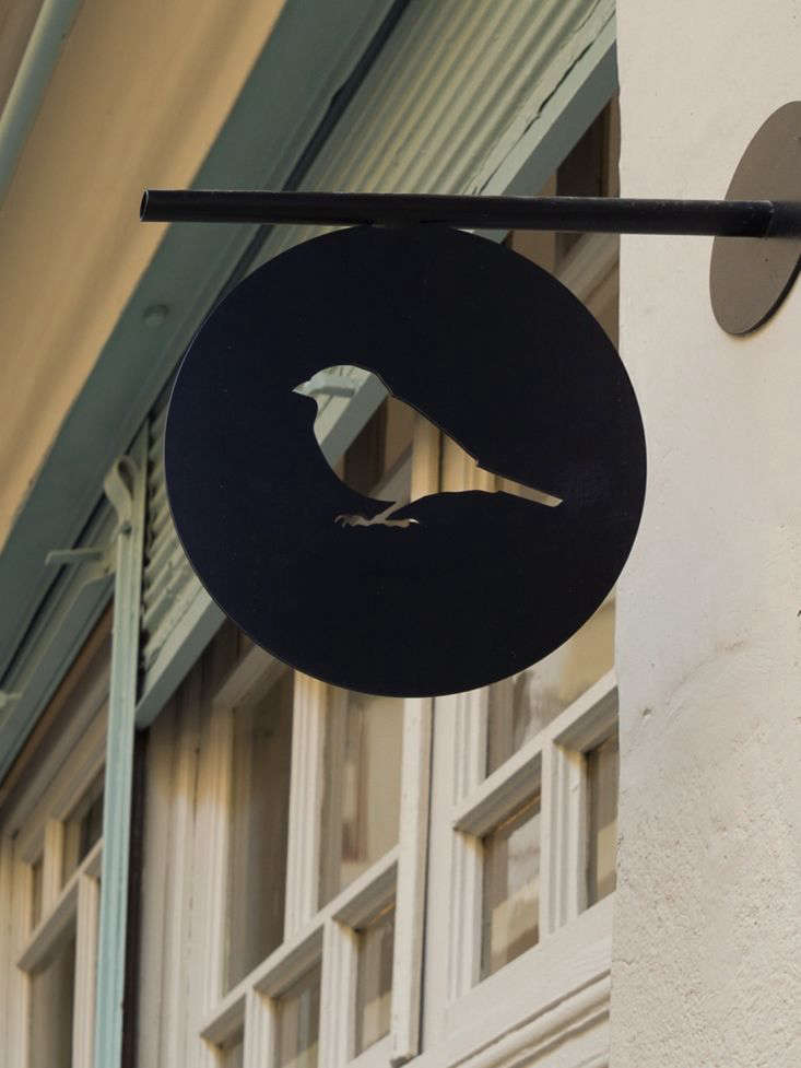 Passer Domesticus 12 Ideas to Steal from an Idiosyncratic Urban Getaway in Greece Blink and you&#8\2\17;ll miss it: the shop&#8\2\17;s subtle sign.