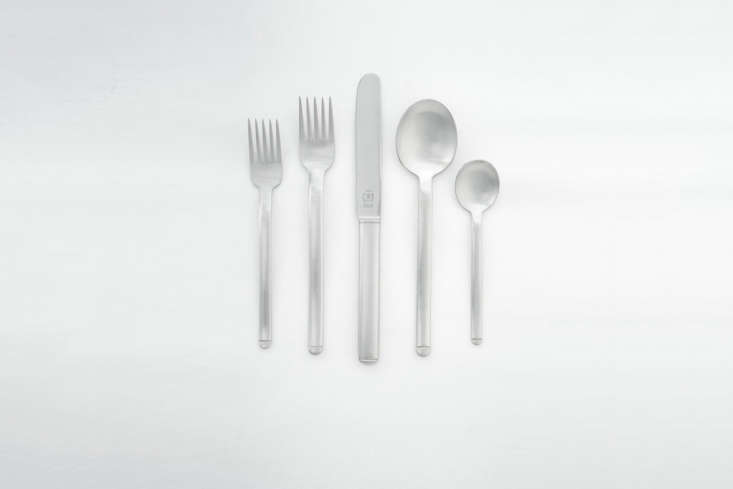 the carl pott pott 33 flatware from \1975 is weighty, has a horizontal etch at  16
