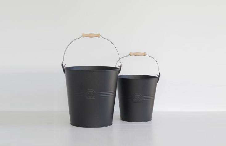 the dark galvanized metal redecker wash bucket is \$55 for the large size from  18