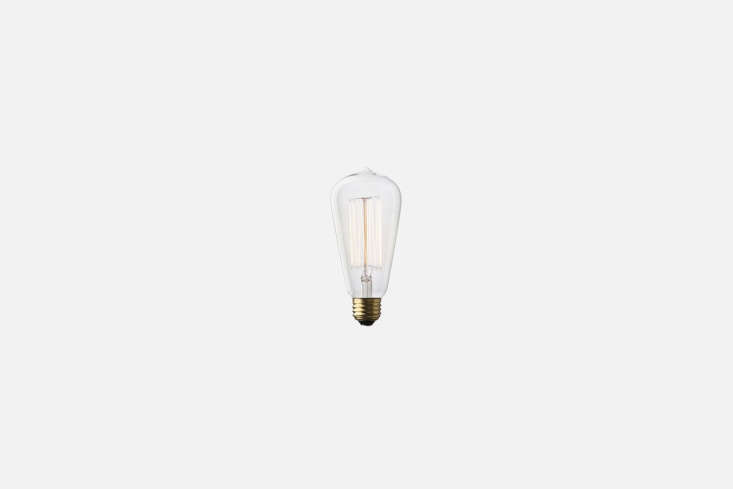 pair it with a reproduction light bulb, like theedison marconi bulb (\$\16 at 15