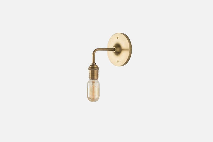 camilla removed the shades on the existing brass light fixtures. for a similar  14