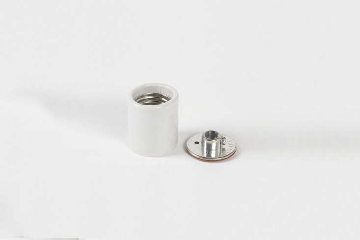 10 Easy Pieces Modern White Ceiling Socket Fixtures from 5 to 300 For an ultra minimalist (and ultra budget) option, theServalite \250 Watt White Ceiling Socket is \$4.35 at Lowes.