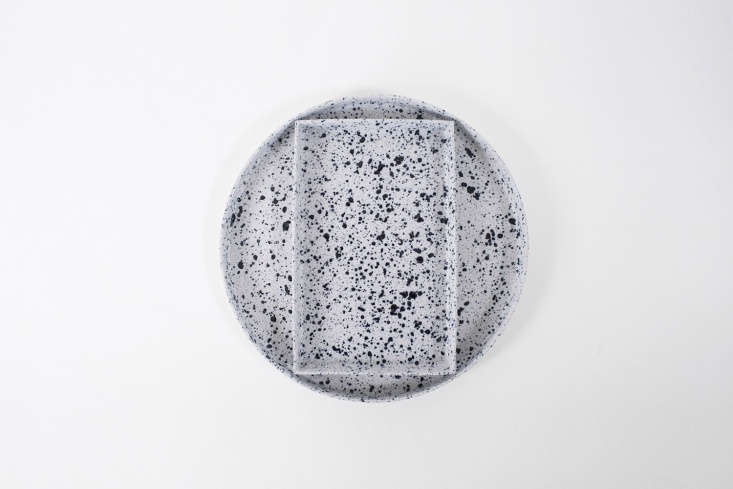 10 Easy Pieces Ceramic Trays ASpikkel Round Tray from De Intuitiefabriek in Amsterdam is \1,\295 SEK at Artilleriet.