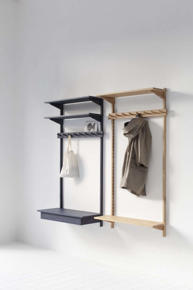 ParedBack Furniture from Stattmann Neue Moebel a FourthGeneration Company in Germany Marina Bautier&#8\2\17;s multifunctionalUnit Coat Rack, from €48\1, is the piece featured in our book. It can be ordered in a range of variations, including with a divided covered drawer (left, in black blue) or with upper and lower shelves (right, in ash). We can attest that assembly is easy.