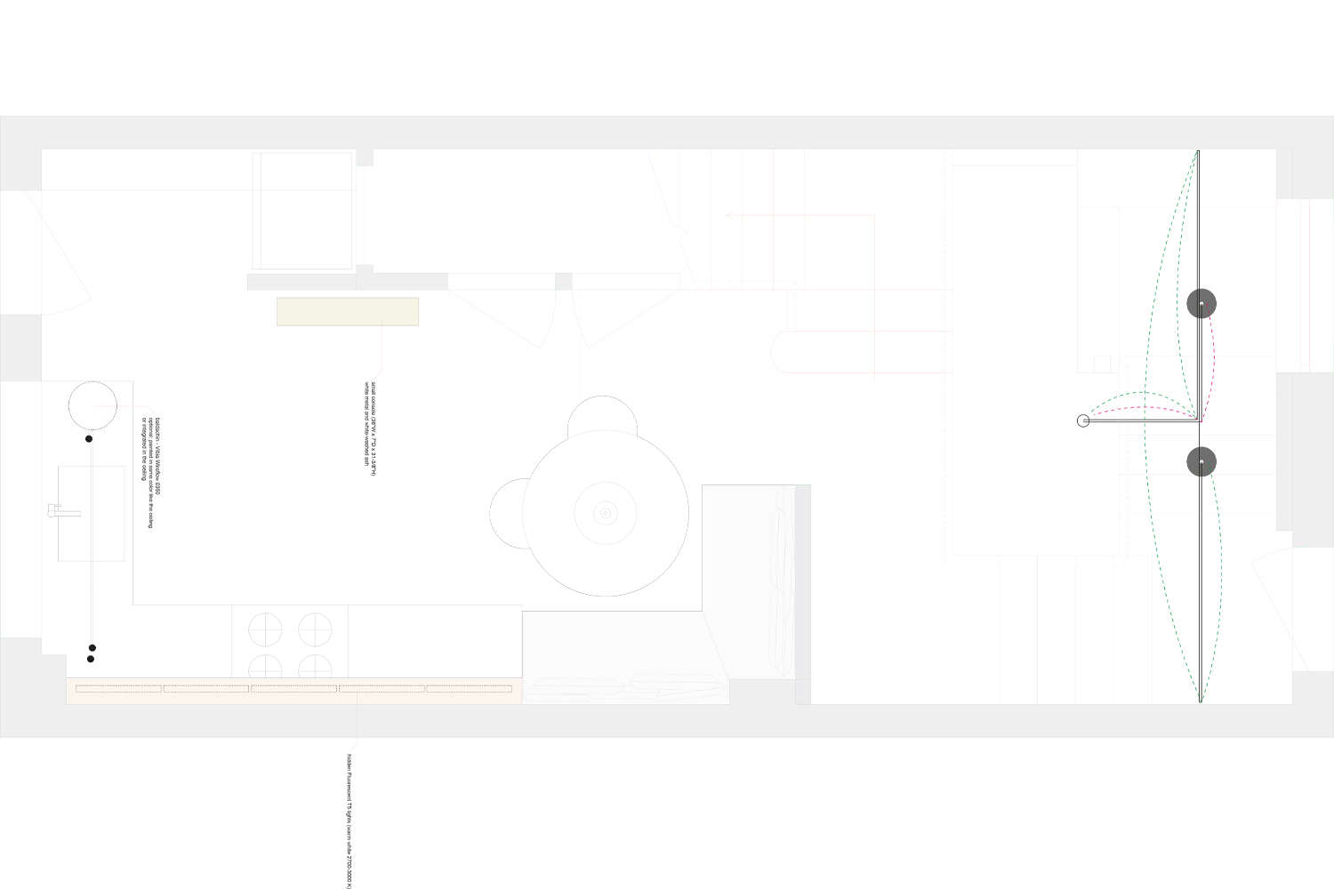 The first-floor kitchen and dining room plan.