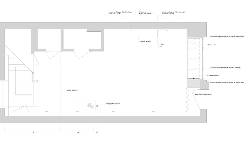 The basement living room and solarium plan.