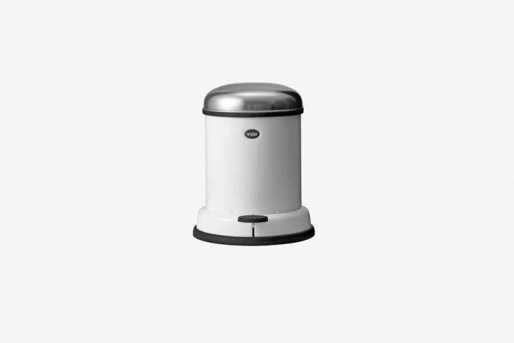 the vipp \2 gallon pedal bin is a classic bathroom waste bin. it&#8\2\17;s  17