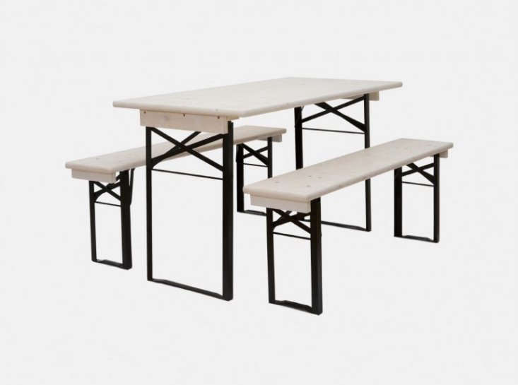 The tables can be used indoors as a table or desk, or outdoors for summer entertaining, just like their original purpose: &#8