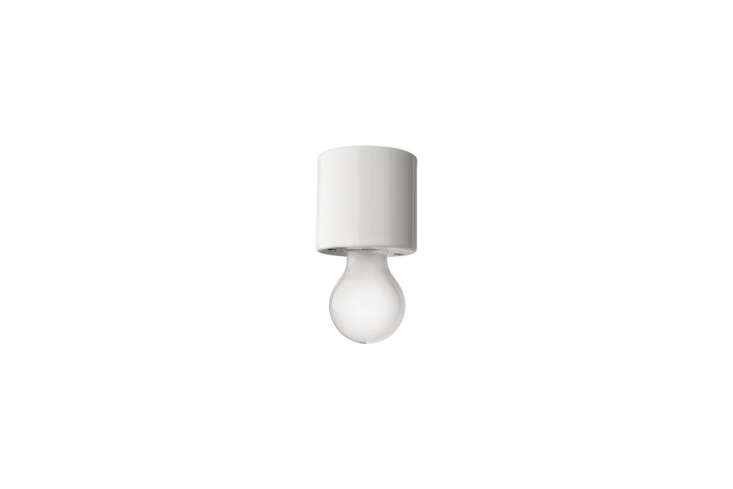 10 Easy Pieces Modern White Ceiling Socket Fixtures from 5 to 300 The simple White Porcelain Lampholder is €58 from Zangra in Belgium.