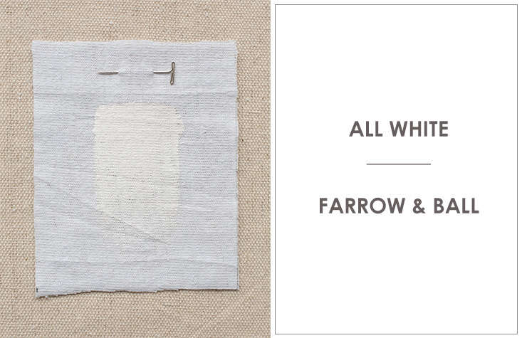 Anstruther painted the walls in All White by Farrow & Ball, which the company describes as its &#8