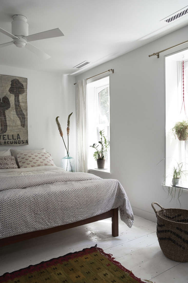the all white room has kerry cassill indian cotton bedding and a mushroom botan 20
