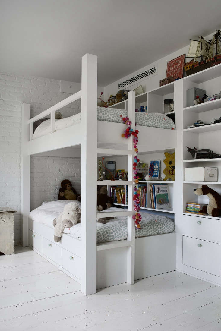 the kids, ages \10 and \1\1, share a room with built in bunks each with its own 22