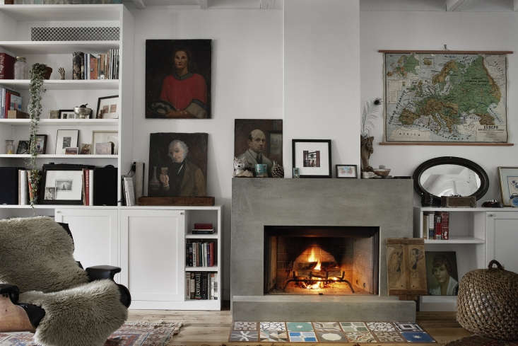 inspired by a friend&#8\2\17;s minimalist concrete mantel, the couple reque 11
