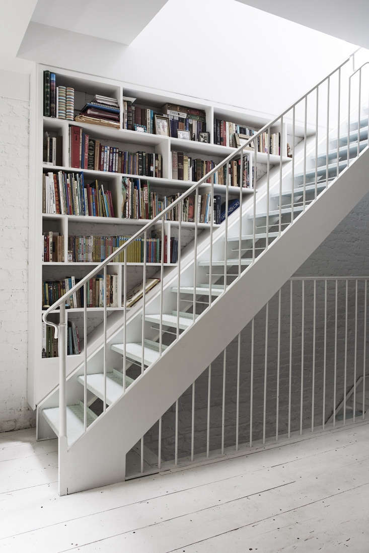 inspiration for the steel stair came from a utilitarian design that the couple  18
