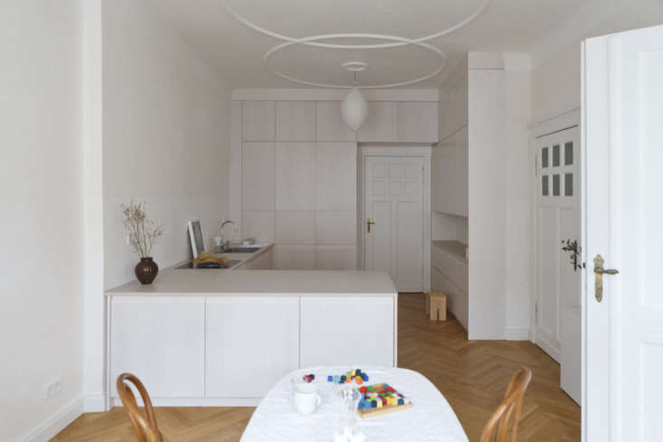 a sunny, centrally located room was selected to be the new kitchen and dining a 9