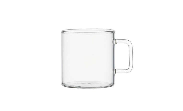 cb2 clear glass teacup