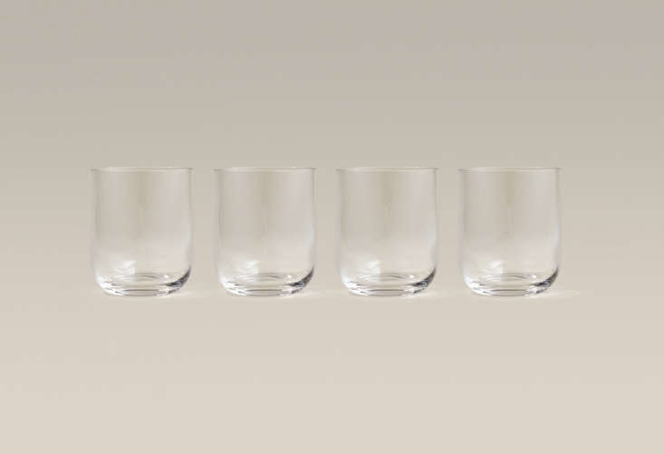 short glasses are just over 3 \1/\2 inches tall and hold almost \1\2 ounces; \$ 16