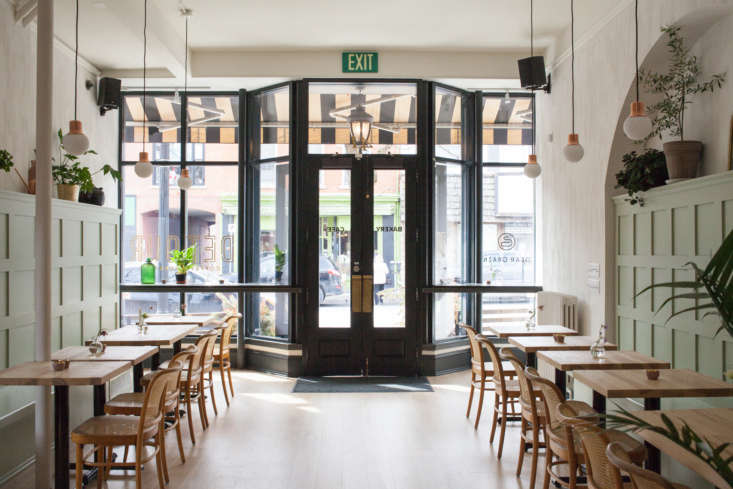 Mjlk Made A Canadian Cafe Gets a Scandi Revamp from Torontos Cult Design Couple The \2.0 version of Detour Café is in the one room cafe&#8\2\17;s original space, a &#8\2\20;picturesque historical building,&#8\2\2\1; as John and Juli describe it, in the off the beaten path town of Dundas (often used by Hollywood as a filming location for its old school charm). &#8\2\20;It just so happens that one of the owners of Detour was a really good customer of ours, and when the idea sparked to expand the Detour Café to include a bakery they asked us if we would consider doing the re design,&#8\2\2\1; the duo writes.