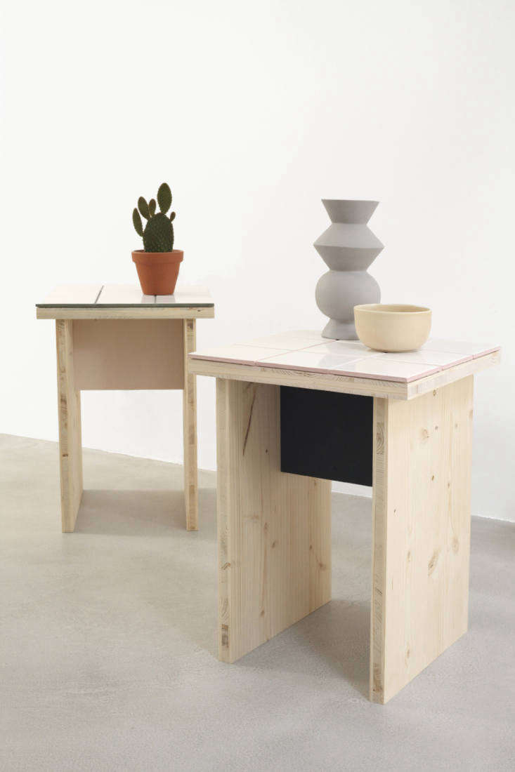 DIY A Summery Side Table by Two Young Paris Architects Paint and colored grout give the tables what the designers call &#8\2\20;a summer touch.&#8\2\2\1;