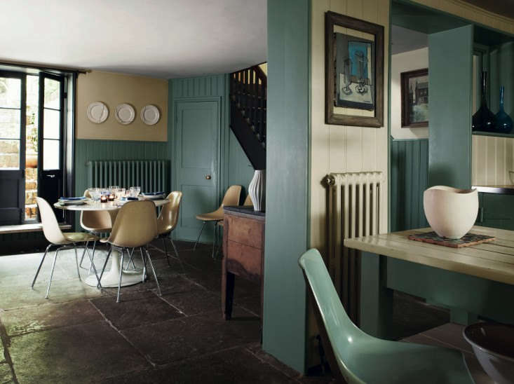 In Farrow & Ball Decorating with Colour (), author (and former features editor ofThe World of Interiors) Ros Byam Shaw, profiles journalist John Nicolson&#8