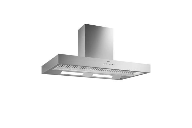 The Gaggenau 400 Series Island Hood in stainless steel and measuring 47. inches is $3,599 at Home Shop Buy and through other Gagganeau dealers.