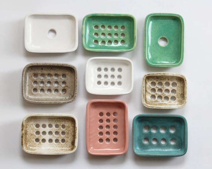 Another set of dishes with the addition of glossy white, pink, and speckled green glazes.