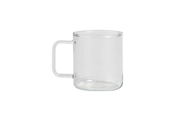 hay clear glass teacup