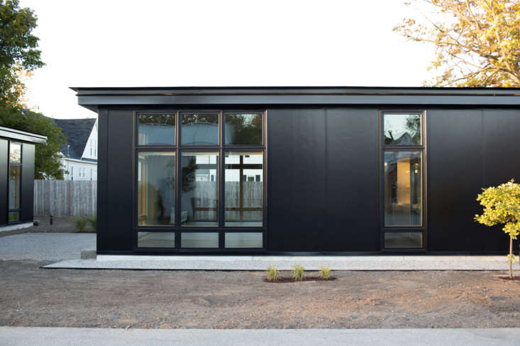 exteriors are a custom series of metal panels painted with calm, deep colors an 9