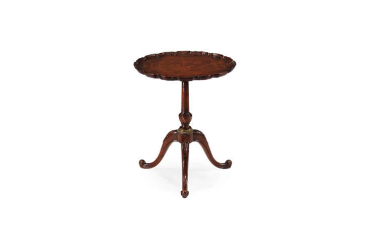 Source a similar vintage round mahogany side table, like the Jonathan Charles Fine Furniture Pie Crust End Table seen here for $loading=