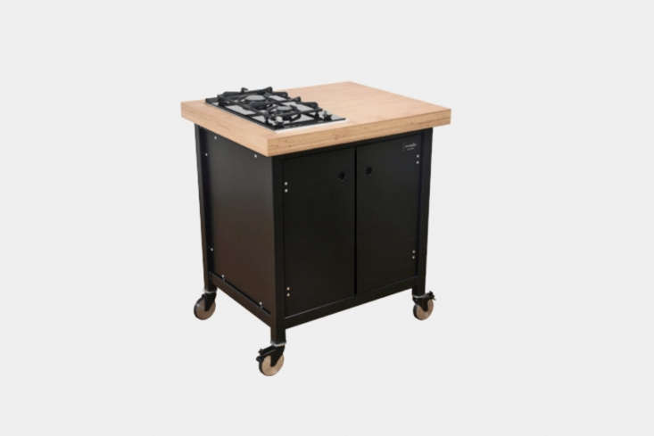 the kochwagen kw80, shown in matte black, with a two burner gas hob is €\2,80 10