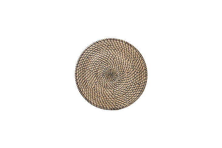 Steal This Look A ShakerStyle Kitchen in Full Color The Lättad Place Mat, made of seagrass and black thread, is \$3.99 at Ikea.
